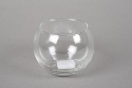 A039R4 Glass sphere vase D9.5cm H7.5cm