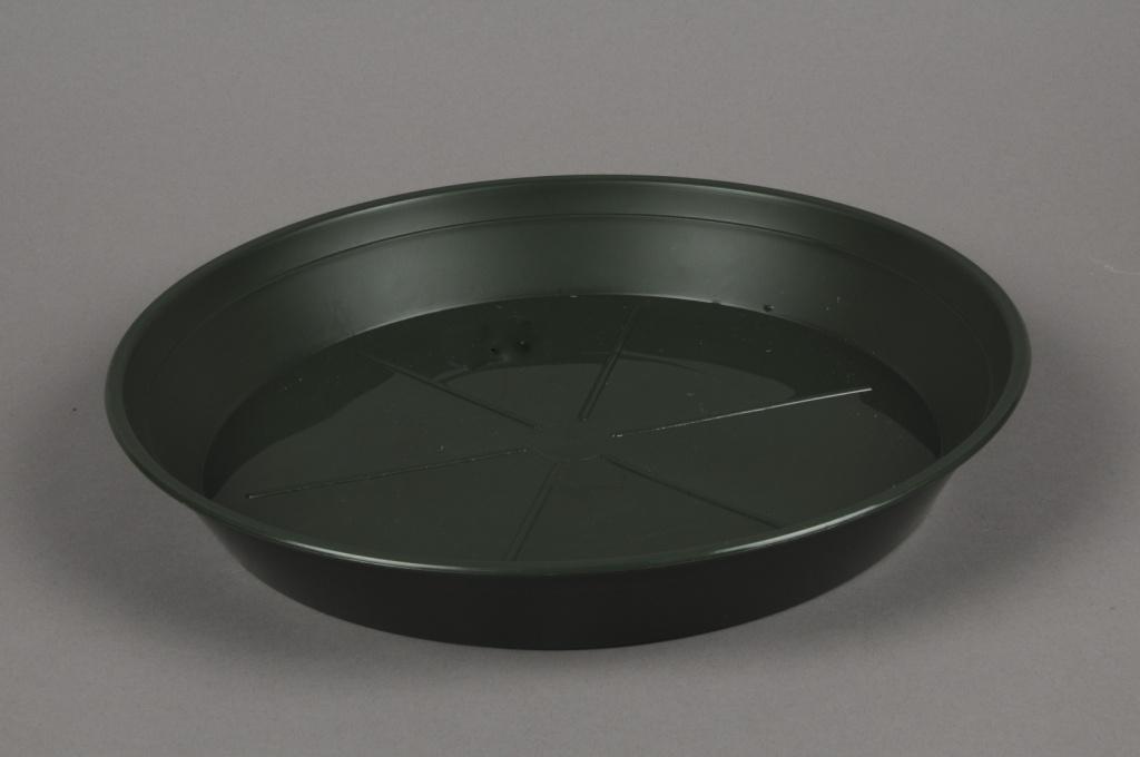 A039T7 Green plastic saucer D24cm