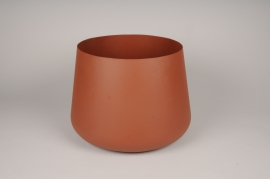 A039U9 Brown brushed metal bowl D31.5cm H29.5cm