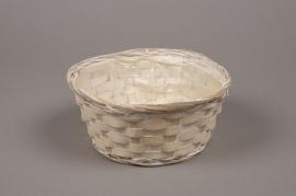 A039VX White bamboo bowl D20cm H10cm