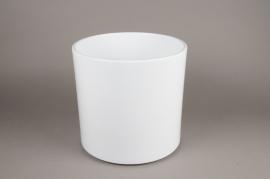 A040A8 Cache-pot en céramique blanc D32cm H32cm