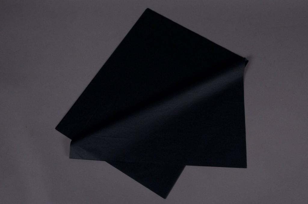 A040AS Paquet de 520 feuilles papier de soie noir 50x75cm