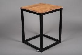 A040AY Sellette en bois et métal 30cm x 30cm H39cm