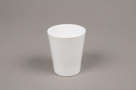 A040DO White ceramic planter pot D7cm H8cm
