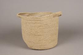 A040M5 A040M5 Jute basket D22cm H20cm