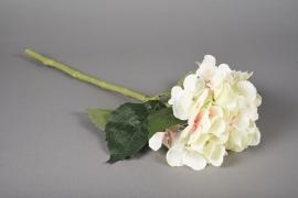 a040nn Hortensia artificiel crème H48cm