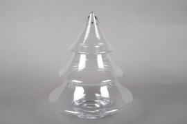 A040R4 Glass Christmas tree sweetbox D32cm H38cm