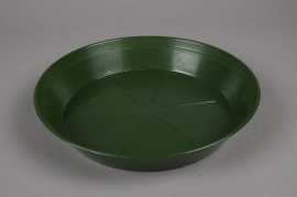 Green plastic saucer D26cm