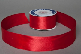 A040UN Satin ribbon red 40mm x 25m