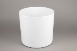 A041A8 Cache-pot en céramique blanc D36cm H35cm