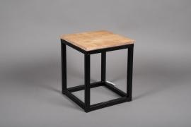 A041AY Sellette en bois et métal 25cm x 25cm H30cm