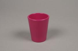 A041DO Cache-pot en céramique fuchsia D7cm H8cm
