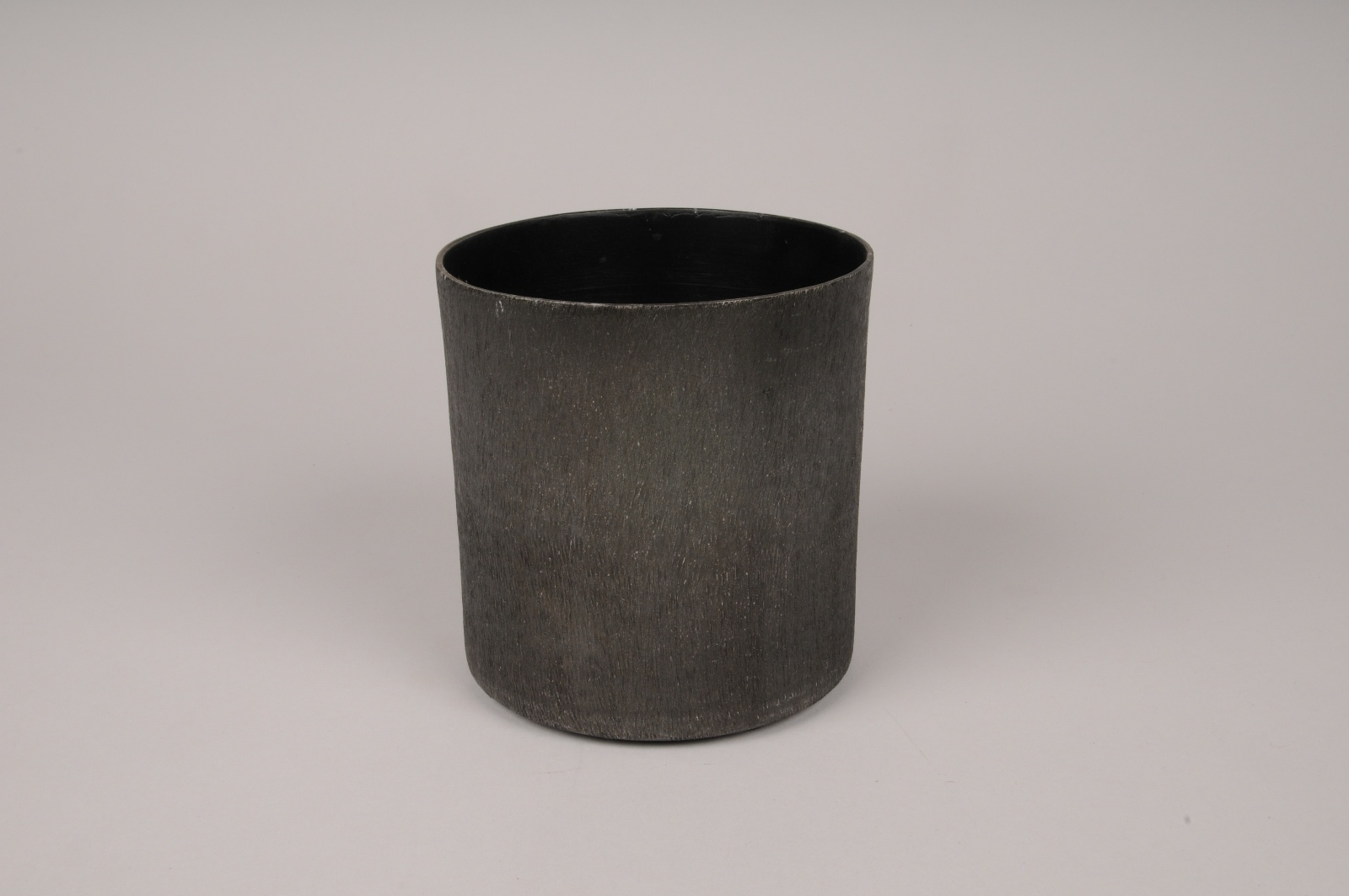A041E5 Cache-pot en métal gris anthracite D9cm H8cm