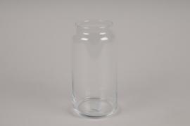 A041IH Glass jar vase D10cm H20cm