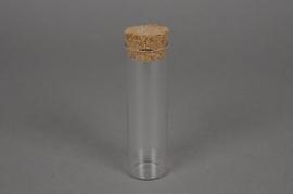 A041PM Pipette verre avec bouchon D3 H10cm