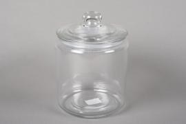 A041R4 Bonbonnière en verre D17.5cm H24cm