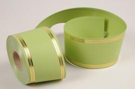 A041RB Ruban deuil vert 75mm x 50m