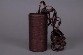 A041ZR Bobine de raphia synthétique marron chocolat 200m