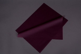 A042AS Paquet de 480 feuilles papier de soie lie-de-vin 50x75cm