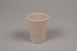 A042DO Brown ceramic planter pot D7cm H8cm