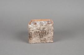 A042DZ Cache-pot en écorce naturelle 9x9x8cm