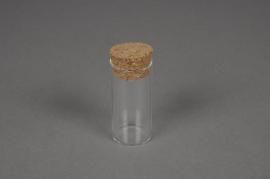 A042PM Pipette en verre avec bouchon D3 H6cm