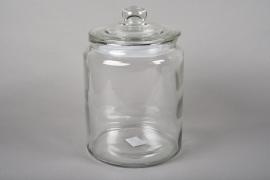 A042R4 Bonbonnière en verre D20cm H28cm