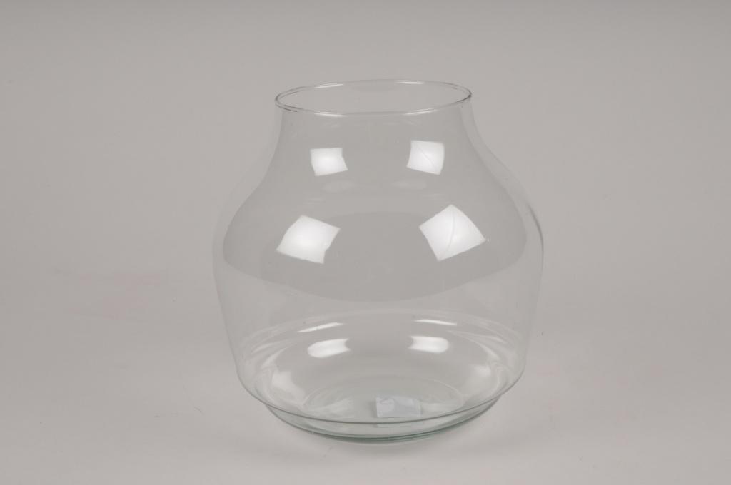 A043IHVase en verre D19cm H19cm