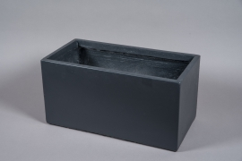 A043NM Grey fiber planter 60x30cm H30cm