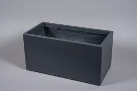 A043NM Jardinière fibre gris anthracite 60x30cm H30cm