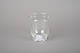 A043R4 Glass candle jar D7.5cm H8.5cm