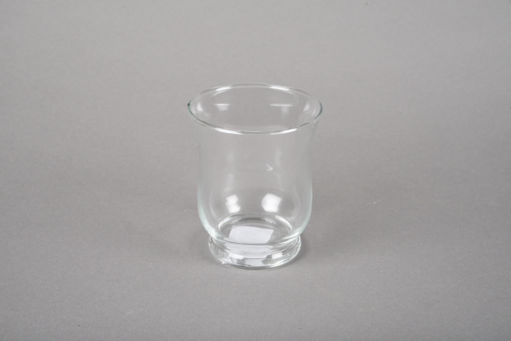 A043R4 Photophore en verre D7.5cm H8.5cm