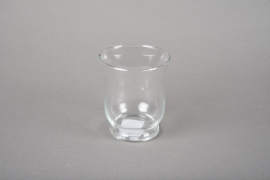 A043R4 Glass candle jar D7.5cm H8.5cm