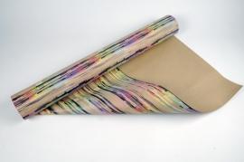A043RB Rouleau papier kraft multi couleur 70cm x 50m