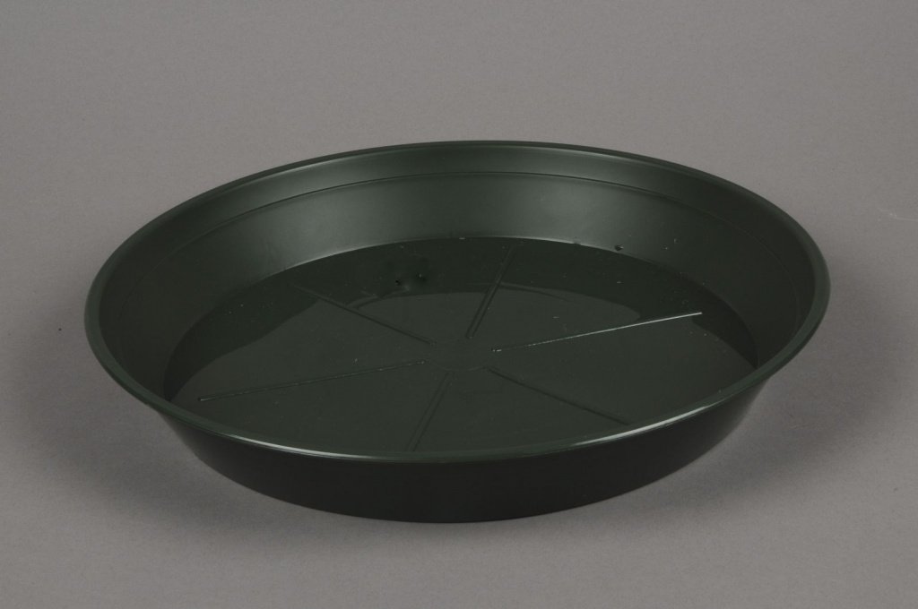 A043T7 Soucoupe en plastique verte D32cm