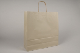 A044AS Paquet de 25 sacs kraft taupe 36x12cm H41cm