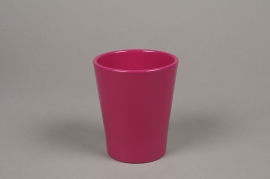 A044DO Cache-pot en céramique fuchsia D10cm H12cm