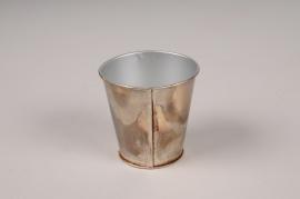 A044JY Cache-pot en métal oxydé D6.5cm H6.5cm