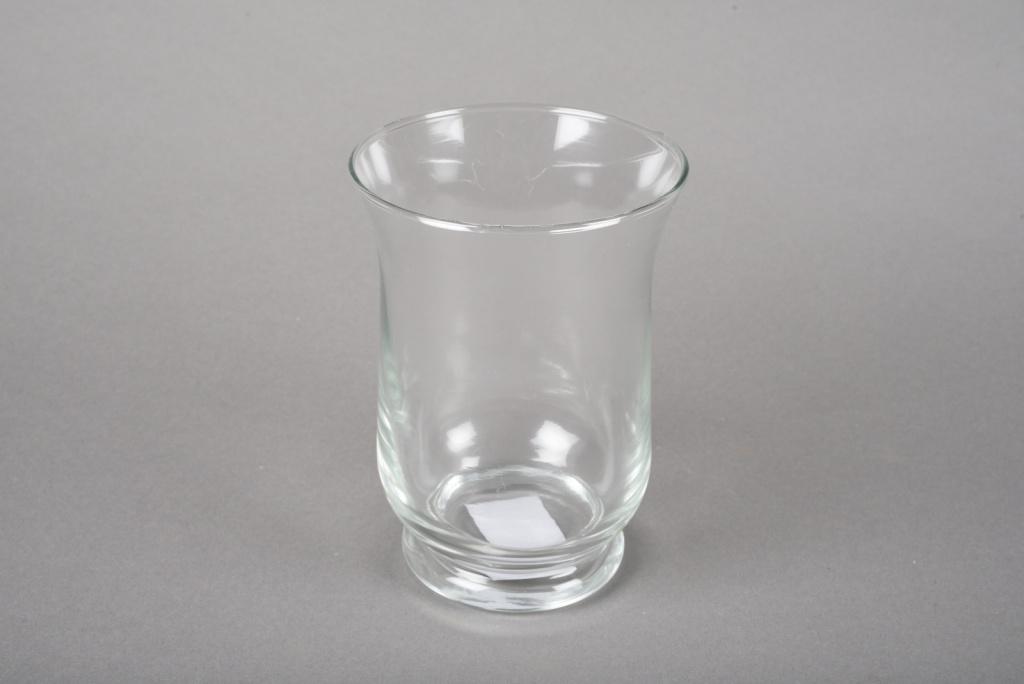 A044R4 Glass candle jar D9cm H11cm