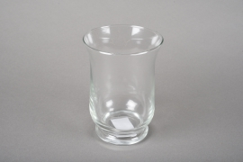 A044R4 Glass candle jar D9cm H11cm