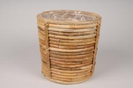 A044UV Cache-pots en rotin D20cm H21cm