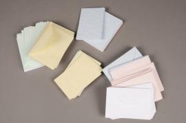 A045AS Paquet de 100 fiches bristol colorées