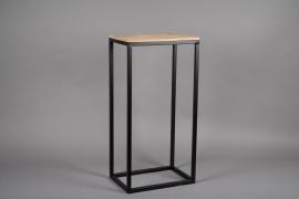 A045AY Sellette en bois et métal 27cm x 39.5cm H80.5cm