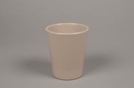 A045DO Brown ceramic planter pot D10cm H12cm