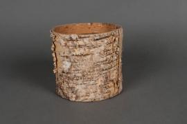 A045DZ Cache-pot en écorce D13cm H13cm
