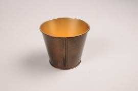 A045JY Copper metal planter D6.5cm H6.5cm