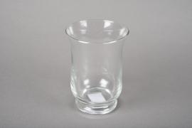 A045R4 Photophore en verre D10.5cm H15cm
