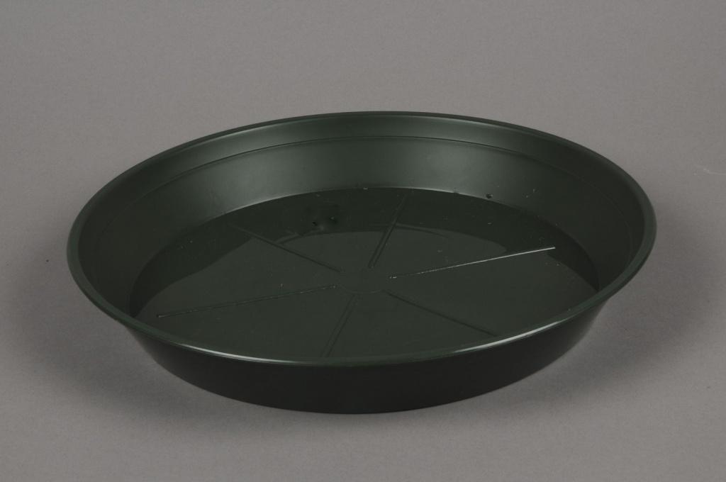 A045T7 Soucoupe en plastique verte D40cm
