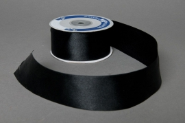 A045UN Satin ribbon black 40mmx25m