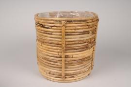A045UV Cache-pots en rotin D26cm H26cm
